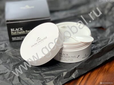 THE SKIN HOUSE Black Peptide Patch Патчи с экстрактом жемчуга и пептидами