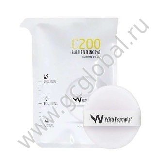 Wish Formula C200 Bubble Peeling Pad (for face single) - Пилинг для лица